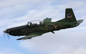 Обои PC-7, самолет, полет, тренировочный