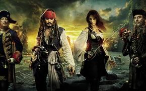 Обои моря, Карибского, берегах, странных, Пираты