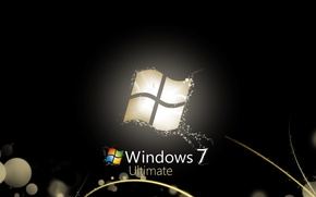 Обои style, black, windows seven 7