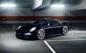Картинка Porsche, Carrera, Automotive, Black Car, Alpha, Porsche 991