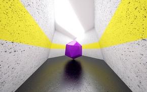 Обои комната, свет, полоса, геометрия, фигура, фиолетовый