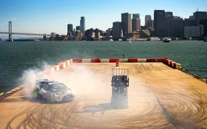 Картинка Ford, Авто, Город, Форд, Занос, Дрифт, Ken Block, Rally, Fiesta, Фиеста, rallycross