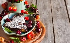 Картинка черешня, выпечка, черешневый пирог