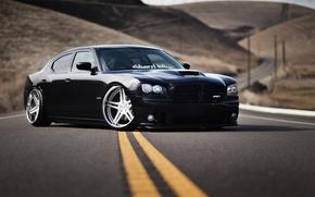 Картинка car, черный, обоя, тюнинг, автомобиль, black, додж, dodge, tuning, charger, srt8, nation, чарджер, срт8, stance