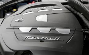 Картинка серый, Maserati, logo, engine, 2017, Levante