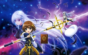 Картинка аниме, арт, schwertkreuz, mahou shoujo lyrical nanoha, reinforce zwei, yagami hayate, tome of the night …