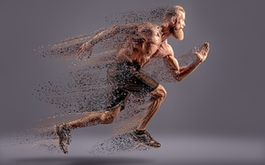 Обои dissipation, running, man