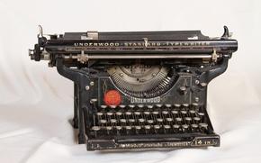 Картинка vintage, ретро, машинка, typewriter, old, retro, печатная, старая, винтаж, Underwood