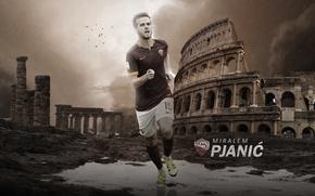 Картинка wallpaper, sport, football, player, AS Roma, Miralem Pjanic