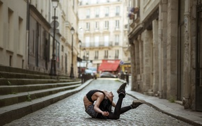 Картинка девушка, поза, улица