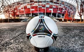 Обои Мяч, Кожа, Евро 2012, Стадион.
