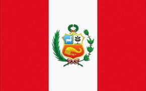 Обои Peru, Перу, Флаг, Белый, Photoshop, Красный, Герб