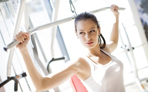 Картинка woman, workout, gym, physical activity