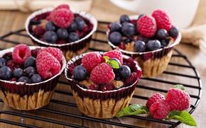 Картинка ягоды, выпечка, fruit, pastries, Berry scones with oats, Берри булочки с овсом