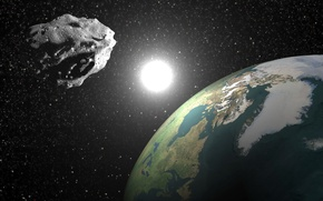 Картинка planet earth, asteroid, 2004 bl86