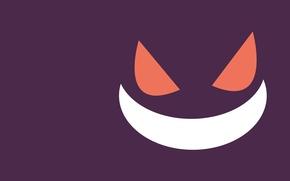 Картинка глаза, улыбка, покемон, pokemon, части тела, Gengar, генгар