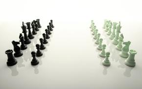 Картинка отражение, шахматы, фигуры