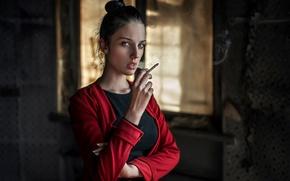 Обои взгляд, сигарета, Россия, Георгий Чернядьев, Alla, Алла Бергер