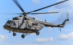 Картинка авиация, вертолет, лопасти, Mi-8AMT