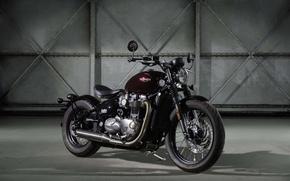 Картинка bonneville, triumph, motorbike, bobber