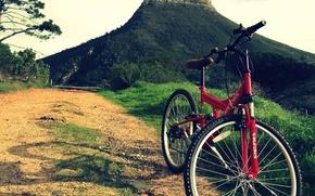 Картинка дорога, горы, велосипед, спорт, mountain bike full suspension vs hardtail
