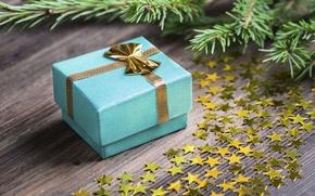 Картинка подарок, Новый Год, звездочки, Merry Cristmas, gift, decoration