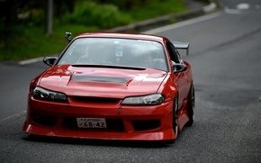Картинка S15, Silvia, Nissan, Red, Tuning