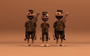 Обои солдаты, Армия, человечки
