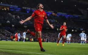 Картинка Англия, Футбол, Premier League, Ливерпуль, Liverpool, Steven Gerrard, Стивен Джеррард, Barclays, Премьер Лига
