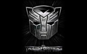 Обои dark of the moon, transformers, эмблема, трансформеры, автоботы