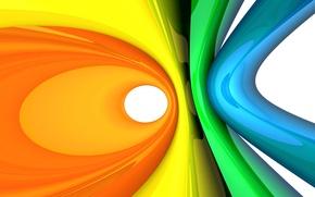 Обои цвета, кольца, абстракция