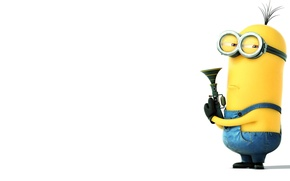 Картинка ружье, Despicable Me 2, kevin, Minion