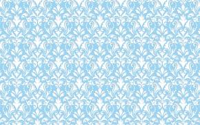 Обои узор, голубой