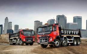 Обои грузовик, Volvo, FMX, спецтехника, Sivyer, песок, вольво, карьер