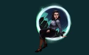 Картинка девушка, ретро, темный фон, биошок, Элизабет, BioShock Infinite: Burial at Sea