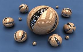 Картинка cinema, abstract three-dimensional balls