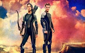 Обои 12-й Дистрикт, трибуты, The Hunger Games: Catching Fire, Jennifer Lawrence, Peeta Mellark, Джош Хатчерсон, Китнисс ...