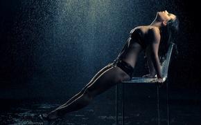Картинка wet, rain, women, pose
