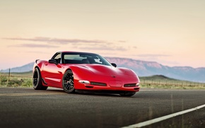 Обои chevrolet corvette, c5, red, car, lunchbox photoworks