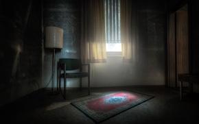 Картинка комната, лампа, окно