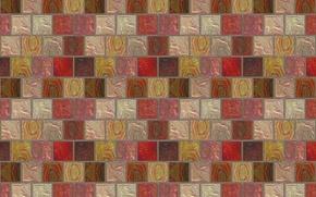 Картинка плитка, текстуры, мозаика, стена, квадратики