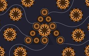 Картинка Logo, Wallpaper, AIMP, Hi-Teck, Deep Night Flowers