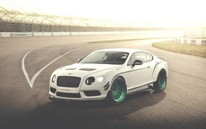 Картинка белый, Bentley, Continental, арт, white, art, бентли, континенталь, race car, GT3-R, HansenART, Hansen Art, by …