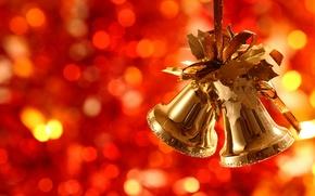 Обои new year, новый год, праздник, колокольчики