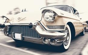 Обои ретро, кадиллак, олдтаймер, автомобиль, классика, авто