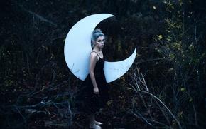 Картинка лес, девушка, Aleah Michele, Swear by the Moon