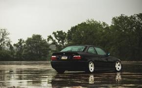 Картинка бмв, BMW, черная, black, E36