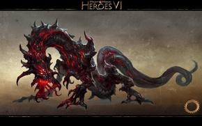 Картинка Дракон, Хаос, Герои Меча и Магии 6, Might & Magic Heroes VI, Urgash, Ургаш