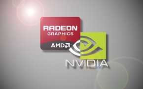 Картинка компьютер, минимализм, minimal, Nvidia, AMD, Radeon