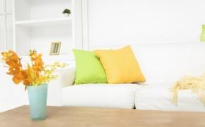 Картинка цветы, дизайн, стиль, интерьер, подушки